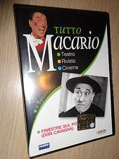 DVD TUTTO MACARIO IL TEATRO FINESTRE SU PO (DON CAVAGNA)