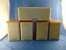 Vintage rare Mordaunt Short speakers 5 pc center channel audiophile music Wood