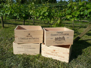 Wooden Wine Box Crate, 6 Bottle or Wine Box End. French, Shabby Chic, Vintage.