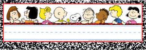EU 833133 Snoopy Peanuts Adhesive Nameplates Classroom Labels & Supplies