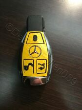 Carbon Gelb Folie Dekor Schlüssel Mercedes C E  AMG Brabus W204 CLK W209  W R