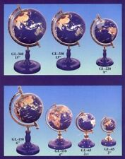 Hand crafted 150 mm World Gemstone Globe