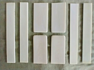 8 Exceptional 1859 Steinway  Antique Piano Key Tops Ivory Veneers Pre 1880 # S2