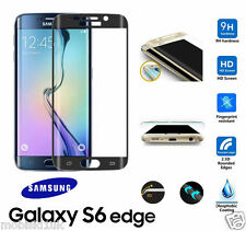 Samsung Galaxy S6 Edge FULL 3D Curved BLACK Tempered LCD Glass Screen Protector