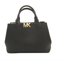 NWT MICHAEL KORS FLORENCE MD SATCHEL CROSSBODY BAG BLACK $348 PURSE