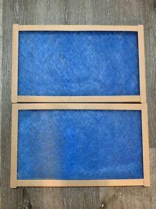 2 Pack Fiberglass Air Filter, For MERV2 12x20x1 Model #112201 2pk Blue