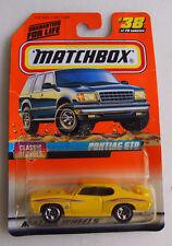 MATCHBOX 1998 ISSUE PONTIAC GTO YELLOW #38 THE JUDGE