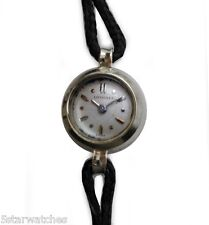 Vintage 1940's LONGINES Smallest Back Wind White Gold Ladies Watch by Le Coultre