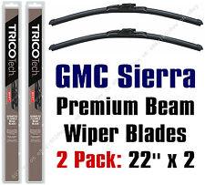Wipers 2-Pack Premium Beam Blade Wiper Blades fit GMC Sierra 1999-2015 - 19220x2