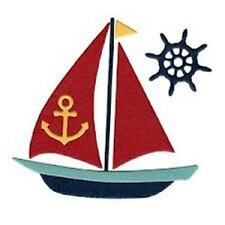 """Lifestyle Crafts DR0325  """"Sailboat"""" 1 Cutting Die   Size:3.25""""x3.31""""  NEW"""