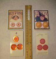 10 Vintage Shades of Orange + Pink Pearl Tone Coat BUTTONS Le Chic ART CARDS