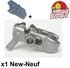 Lego - 1x minifig arme weapon shooter pistolet argent/flat silver 22487 NEUF