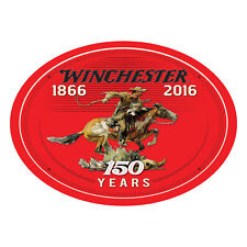 River's Edge Products Oval Tin Sign Winchester 150th Anniversary 12x17in