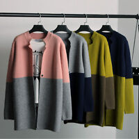 New Ladies Womens Female Long Sweater Kimono Jacket Cardigan Coat Outerwear Knit