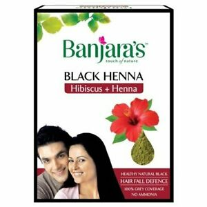 Banjara's Black Henna with Hibiscus powder 50 gm x 3 packs