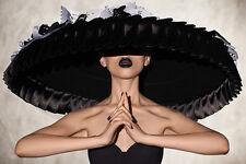 Sombrero de Boda impresionante lienzo cuadro #7 Moda Sombrero de Lona A1 Glamour Ladies días