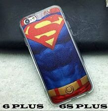 iPhone 6+ / 6S+ Plus - SUPERMAN BLUE RED Hard TPU Rubber Gummy Skin Case Cover