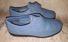 Dr Scholl's Blue Leather Upper Loafers Women's 6M Shoes Advanced Comfort