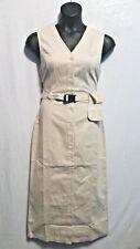 Cotton Denim Twill Long Lounger Gown Women Jumper Maxi Dress Stone Size L
