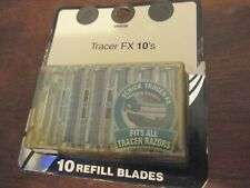 VTG SCHICK TRACER FX 10 Count Refill Razor Blade Blades *NEW* in damaged box