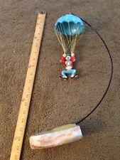 Ron Lee World of Clowns art Clown Parachuting style L 304 euc