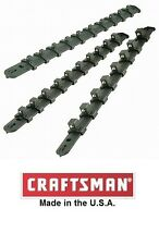 "Craftsman 3pc Durable Lightweight SOCKET HOLDER Set 1/4"", 3/8"" and 1/2"" racks"