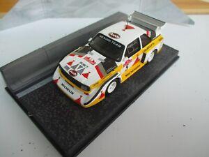 AUDI QUATTRO SPORT E2 rally car model on Diorama Sanremo Rally 1985 Walter Rohl
