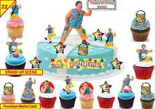 MR TUMBLE Cbeebies Fairy Cup Cake Scene Toppers Birthday Wafer Edible STAND UP