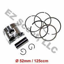 PISTON RING SET 125cc 152QMI  52mm  GY6 4 STROKE ENGINES CHINESE SCOOTER MOPED