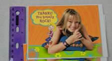 Lizzie McGuire Hilary Duff Disney Birthday Party Thank You Note Card 1-SINGLE