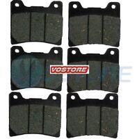 F+R Carbon Brake Pads fit YAMAHA FZR 600 FZX 700 FZ 750 FJ 1100 1200 XVZ