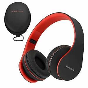 Powerlocus Wireless Bluetooth Over-Ear Stereo Klappbar Kopfhörer, Kabel