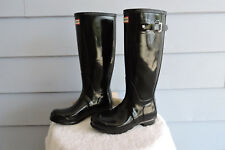 Women's Tall Hunter Original Rain Boots Black Gloss Size 7
