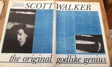 SCOTT WALKER 'godlike genius' 1984 2 page UK ARTICLE / clipping