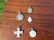 Lot of 5 Medals Notre Dame de  Lourdes Infant Jesus Prague Catholic Supplication