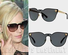 VERSACE black VE2120 1002/87 gold MEDUSA logo JANUARY JONES Sunglasses NIB Auth!