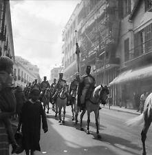 TANGER c. 1950 - Gardes à Cheval du Mendoub Maroc - Négatif 6 x 6 - OST 44