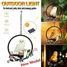 Solar Power LED Light Owl Parrot Waterproof Garden Courtyard Hanging Lamps Decor