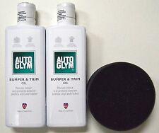 Auto Glym Bumper & Trim Gel Combo Pack 325ml w/ Free Sponge Applicator