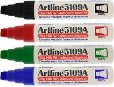Artline 5109A Whiteboard Drywipe Marker Pens Thick Chunky Broad Wide Dry Wipe