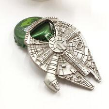 Star Wars Millennium Falcon Spaceship Metal Alloy Bottle Opener Keychain Keyring