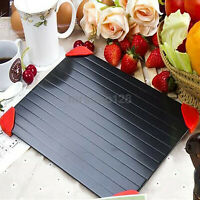 Fast Metal Thawing Plate Defrosting Tray Frozen Food meat Defrost Kitchen Kit US