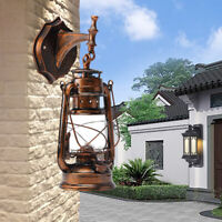 Wall Sconce Light Retro Antique Vintage Rustic Lantern Lamp Fixture Outdoor E27