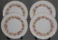 Set (4) ROYAL DOULTON Bone China MAYFAIR PATTERN Dinner Plates MADE IN ENGLAND