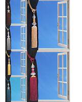 Tie Backs Diamante Ball Acrylic Clear Tassel Curtain Rope Tieback HoldBacks