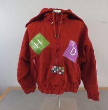 Henri Duvillard Insulated Fugly Orange Pullover Ski Jacket Women's Medium GREAT