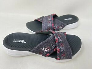 NEW! Skechers Women's ON THE GO 600 MONARCH Sandals Gray/Pink #15306 140R tz