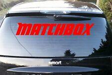 Matchbox ADHESIVO ventanilla trasera 90x15 Fuente bordado Coche Camión portón