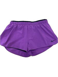 NIKE Dri Fit Woman's Size Large DOUBLE LAYER Running Athletic Shorts