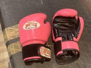 Kids Thai Battle Boxing Pink Gloves Medium Muai Thai Kickboxing Children Girls